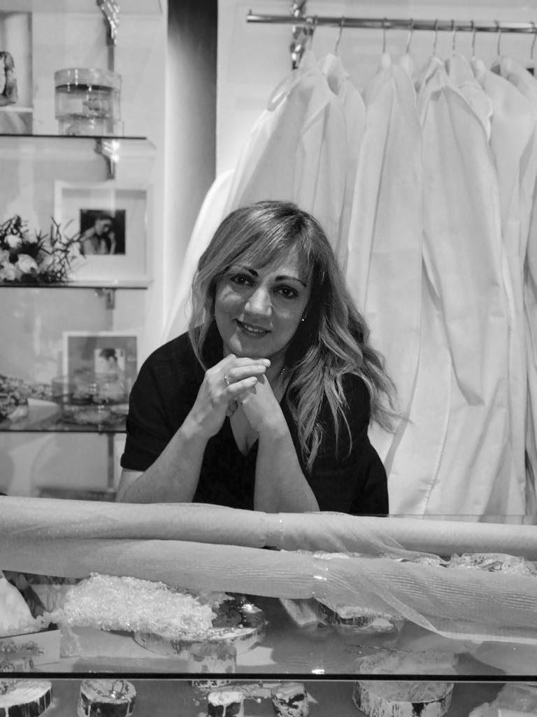 La diseñadora Antonia Serena en su atelier